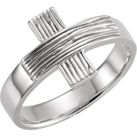 Rugged Cross Purity Ring